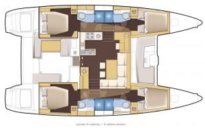Visuel plan du catamaran